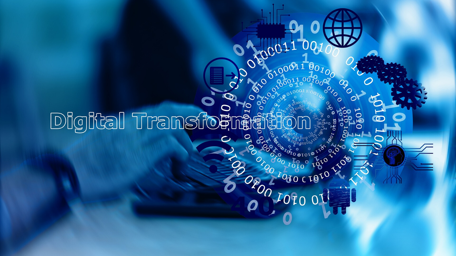 Digital transformation at Speed background